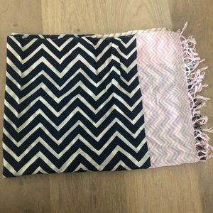 J. Crew multicolor zig zag patterned scarf